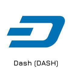 Dash dash crypto coin icon vector