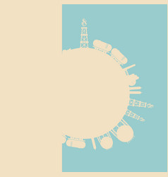 design concept of natural gas industry vector image