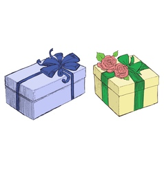 Drawn Presents vector image