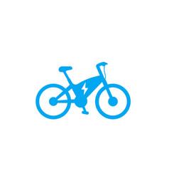 Electric bike icon ecologic transport e-bike vector