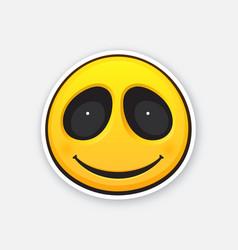 emoji smile face happy emoticon character vector image