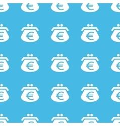 Euro purse straight pattern vector