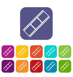 Film strip icons set vector