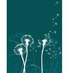 Floral background dandelion vector