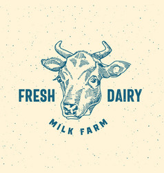 Fresh dairy milk farm abstract sign symbol vector