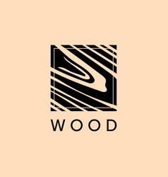 furniture logo wood natural pattern wood vector image