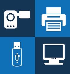 gadgets technology design vector image
