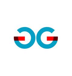 Gg company logo template design vector