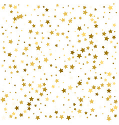 gold stars star confetti celebration falling vector image