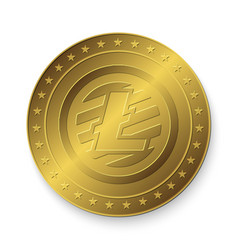 golden litecoin coin vector image