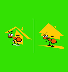 great builder ant with house he built vector image