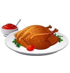 Grilled chicken vector