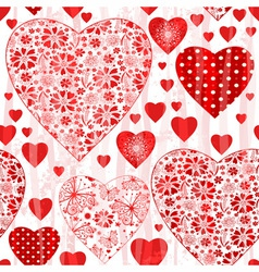 Grungy seamless valentine pattern vector image