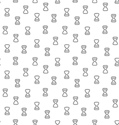 Hourglass clock wait seamless pattern vector image vector image