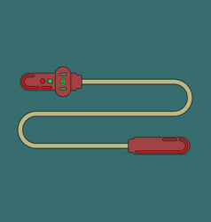 Icon in flat design jump rope vector