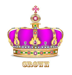 Imperial crown with jewels on a white background vector