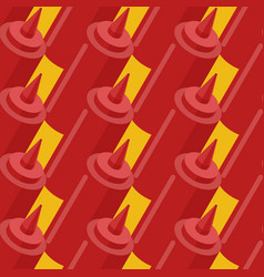 ketchup bottle fastfood seamless pattern fast vector image