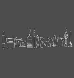 kitchen tool set vector image