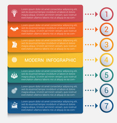 modern strips infographics 7 options banner vector image