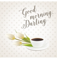 Morning coffee cup vector