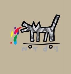 Not dog cartoon vector image