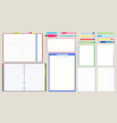 notebook diary open notepad empty sketchbook vector image