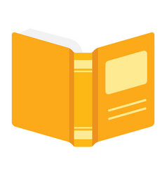 open book information knowledge and education vector image