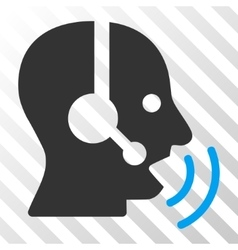 Operator Speech Sound Waves Icon vector image