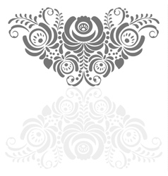 Ornate background in traditional Russian style vector image