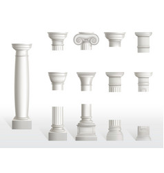 parts ancient column base shaft and capital vector image