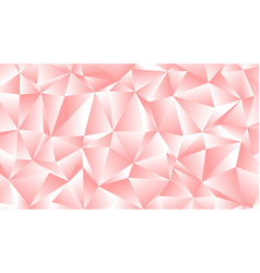pastel pink peach low poly backdrop design vector image