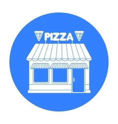Pizzeria icon in black style isolated on white vector image