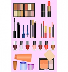 professional make up set vector image