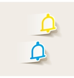 Realistic design element bell vector
