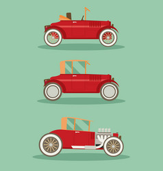 Retro car set flat vector