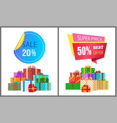 sale 20 50 super price premium quality best offer vector image