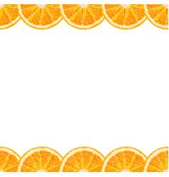 seamless border of orange slice citrus background vector image vector image