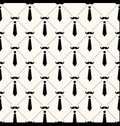 seamless geometric pattern with ustaches vector image
