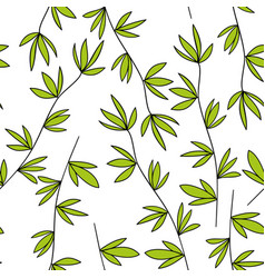 Seamless pattern of the branches vector