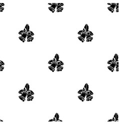 seamless pattern with black christmas handbells vector image