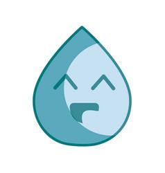 Silhouette kawaii nice happy drop water vector