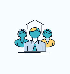 team business teamwork group meeting flat icon vector image