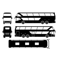 tourist bus black icons vector image