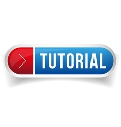 Tutorial button blue vector