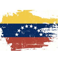 venezuela scratched flag vector image