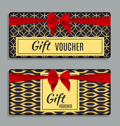 vintage luxury golden ornate gift voucher with red vector image