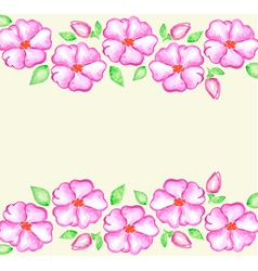 Watercolor hand drawn floral background vector
