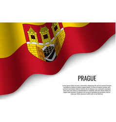 waving flag of region czech republic vector image