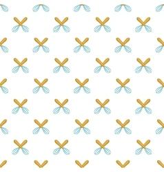 Whisks pattern cartoon style vector