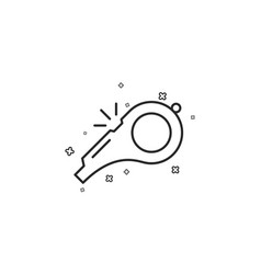 Whistle line icon kick-off sign vector